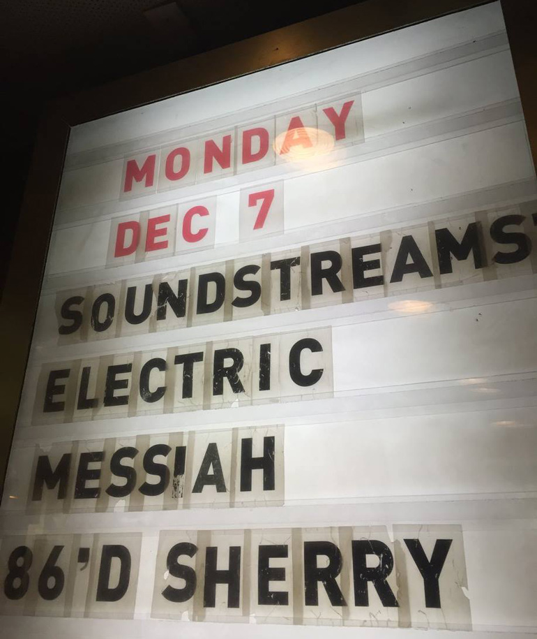 Soundstreams' Electric Messiah at the Drake Hotel Underground