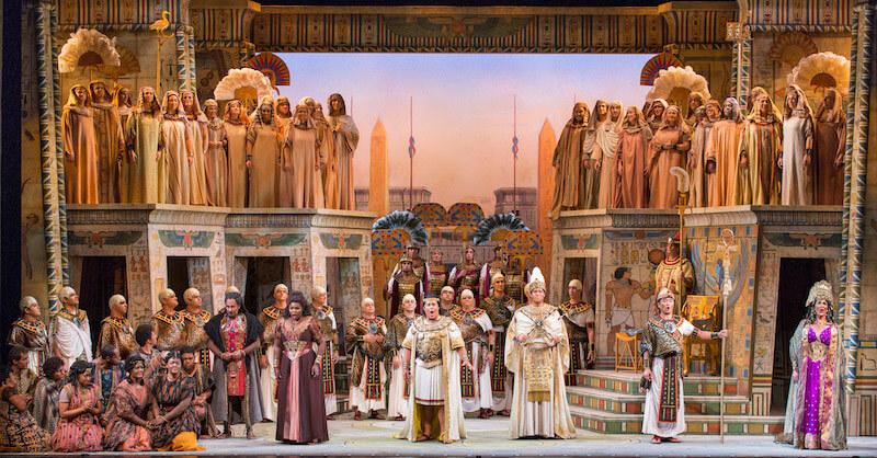 The Triumphal March in Sarasota Opera's production of Verdi's AIDA. (Photo: Rod-Millington)