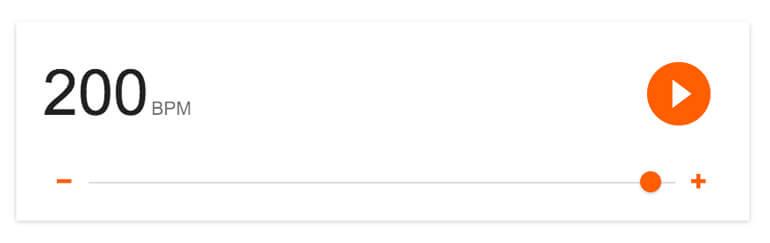 Google Metronome screen caputre