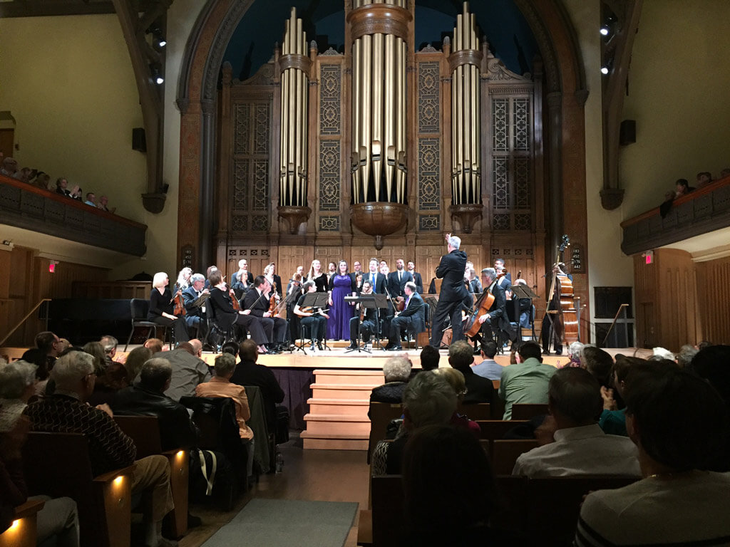 Tafelmusik Baroque Orchestra and Chamber Choir perform with Director Ivars Taurins at Jeanne Lamon Hall (Photo: John Terauds)