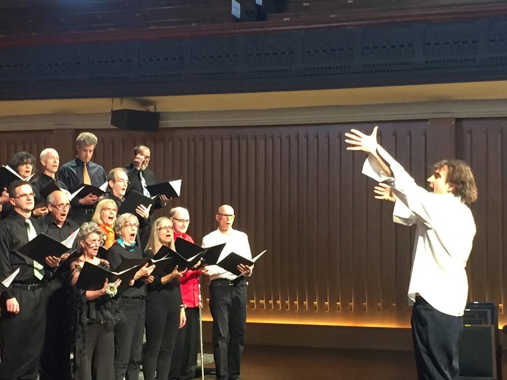 Opera For All Community Chorus. Alvaro Lozano Gutierrez (conductor) at Trinity St. Paul's Centre for the Arts.