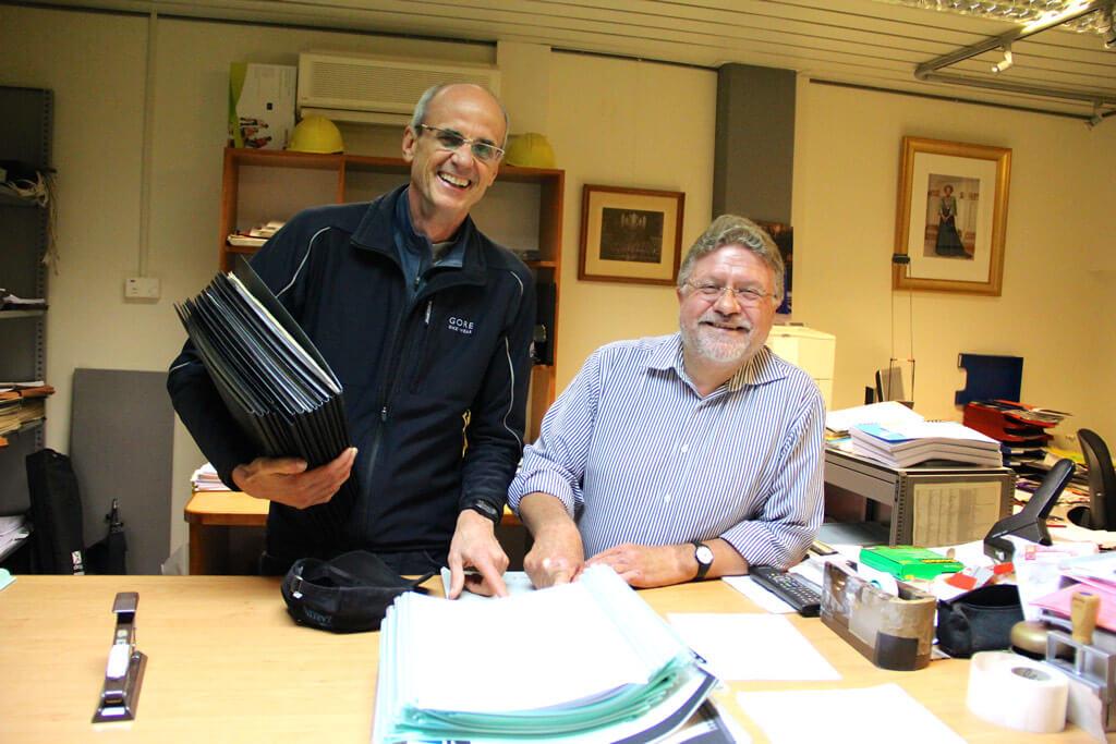 TSO Principal Libarian Gary Corrin meets the Princpal Libararian of the Concergebouw Doewe Zuidema. (Photo Josh Clavir)