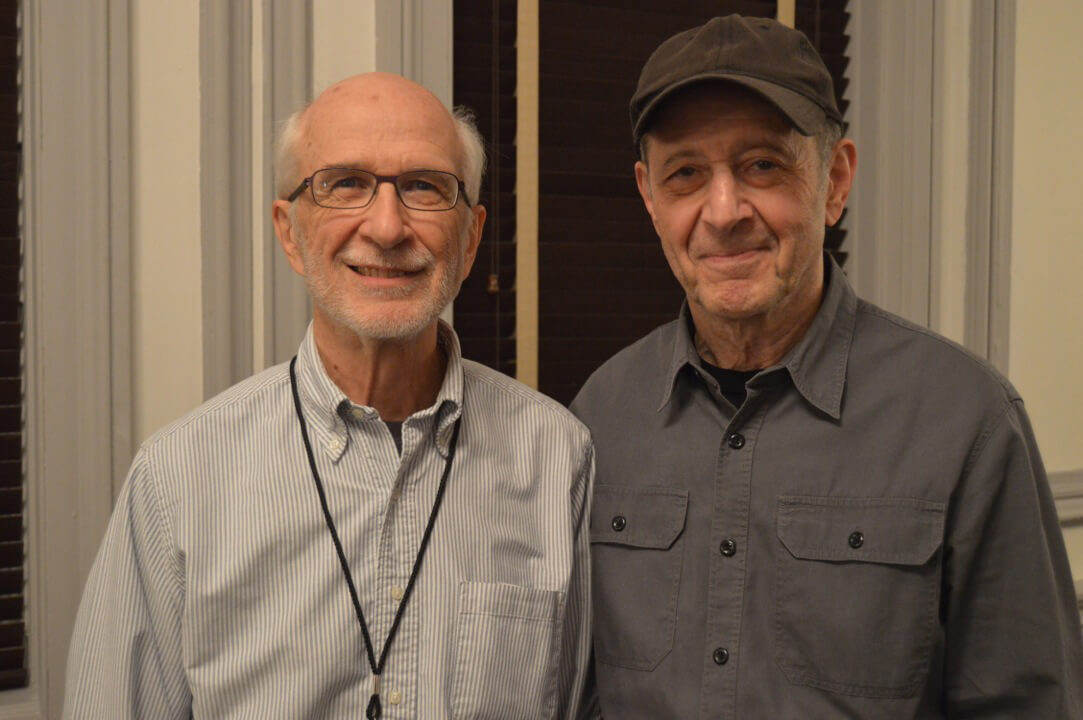 Minimalist music pioneers: Russell Hartenberger and Steve Reich (Photo via Russell Hartenberger)