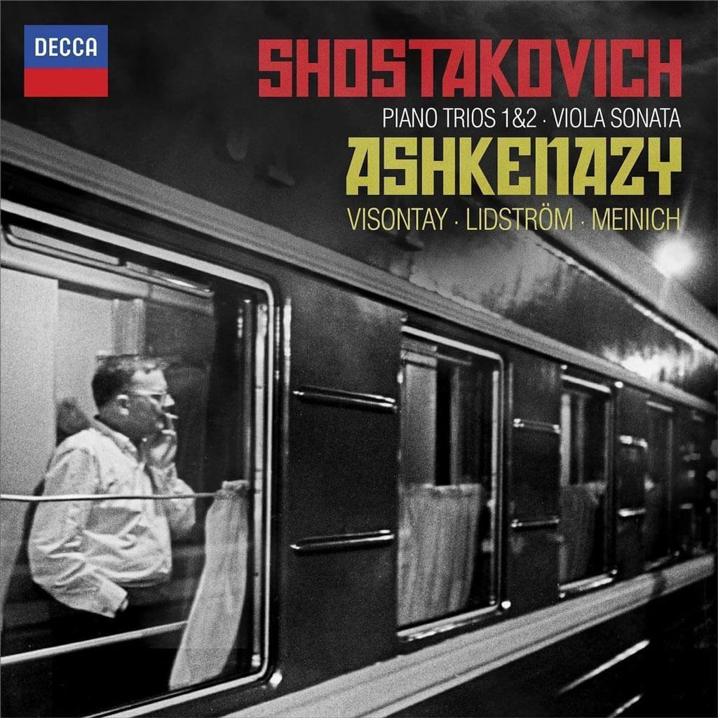 Shostakovich: Piano Trios Nos. 1 & 2; Viola Sonata | Vladimir Ashkenazy, Zsolt-Tihamer Visontay, Mats Lidstrom, and Ada Meinich.