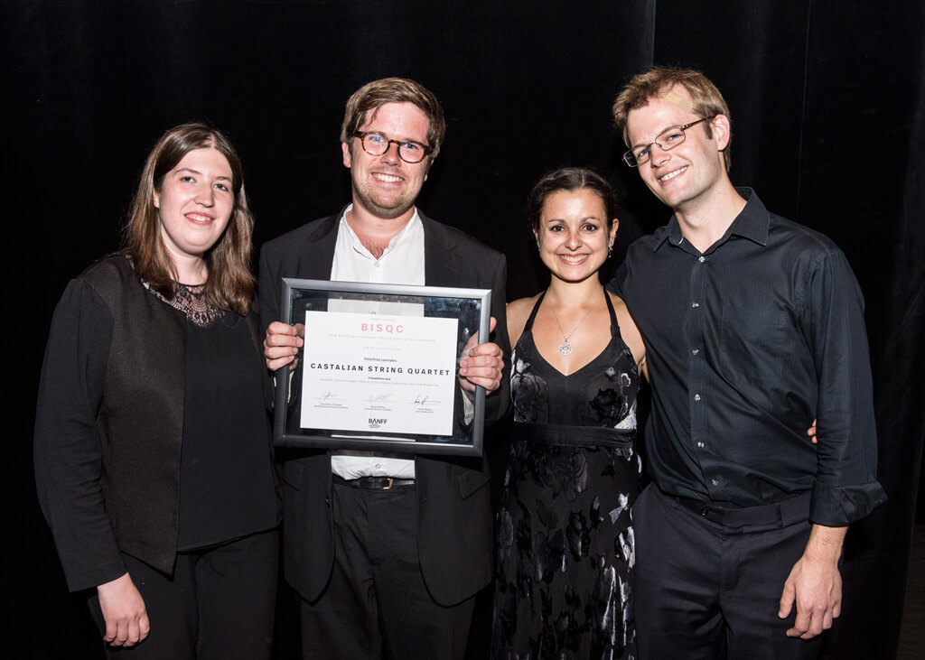 2016 BISQC Third Prize winners: Castalian Quartet. (Photo: Rita Taylor)