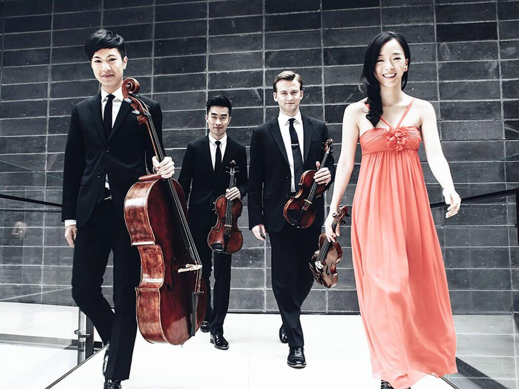 Canada's Rolston Quartet lands final three placement (Luri Lee & Jeffrey Dyrda, violins, Hezekiah Leung, viola, Jonathan Lo, cello) (Photo courtesy BISQC)