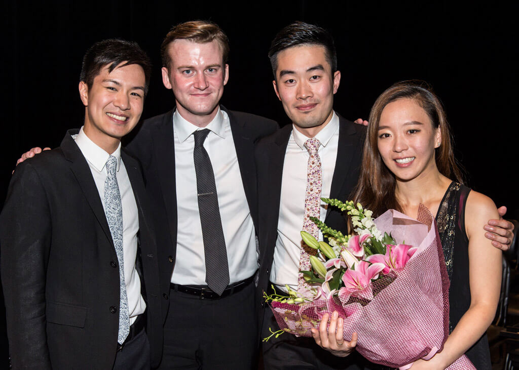 Canada's Rolston String Quartet crowned BISQC First Place winners (Photo: Rita-Taylor)