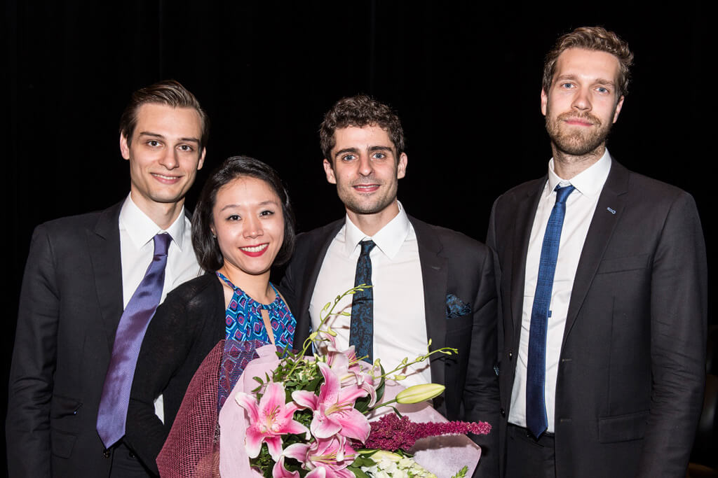 2016 BISQC Second Prize winners, Tesla Quartet. (Photo: Rita Taylor).