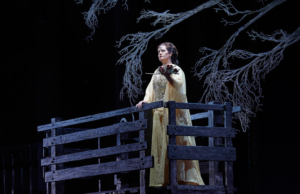 Elza van den Heever as Norma in the Canadian Opera Company production of Norma, 2016, (Photo: Michael Cooper)