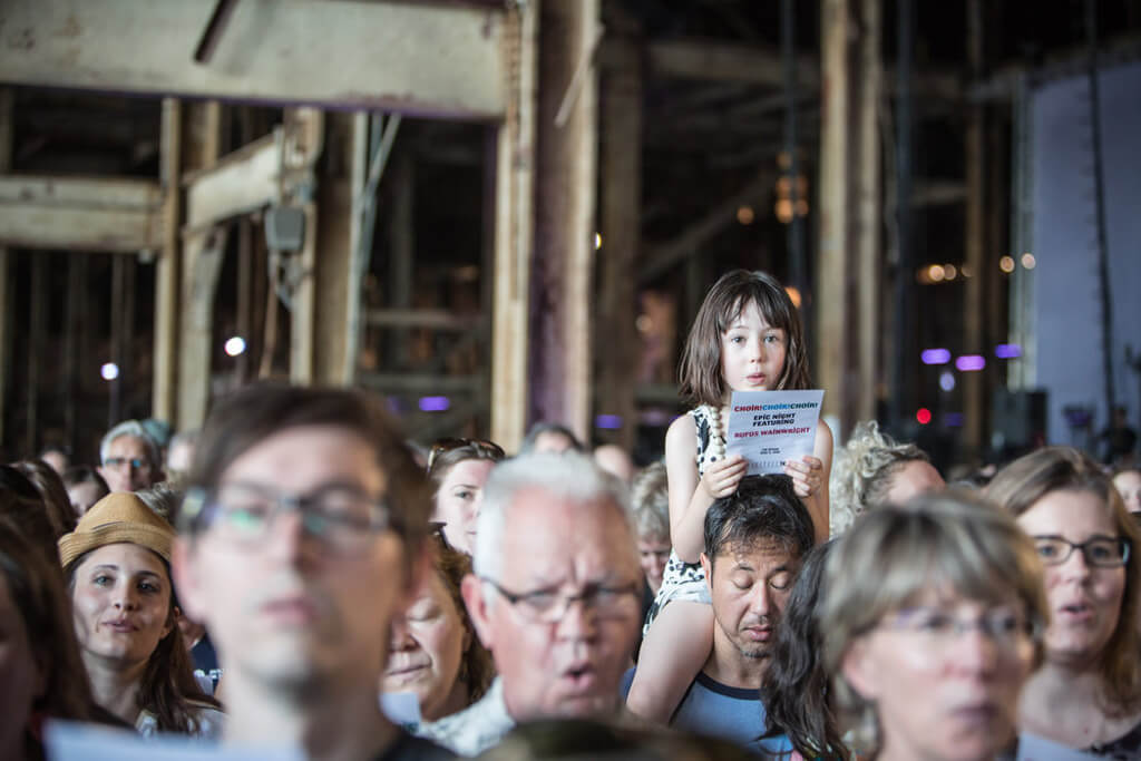 Choir Choir Choir performs at The Hearn, Toronto, 2016. Photo: Andrew Williamson Photography/Choir Choir Choir)