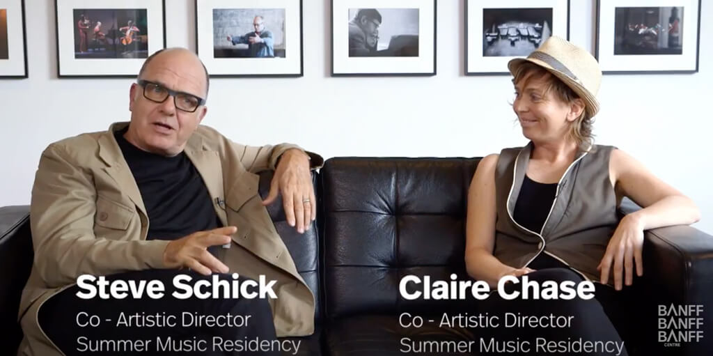 Banff Centre Summer Classical Music Co-Artistic Directors Claire Chase and Steven Schick explain why they're excited for a summer of amazing programming and what you can expect as a participant.
