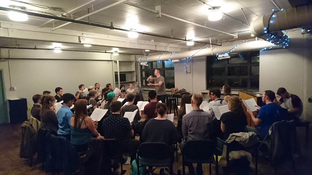 Toronto's That Choir rehearses at Tarragon Theatre (Photo: Brian Chang)