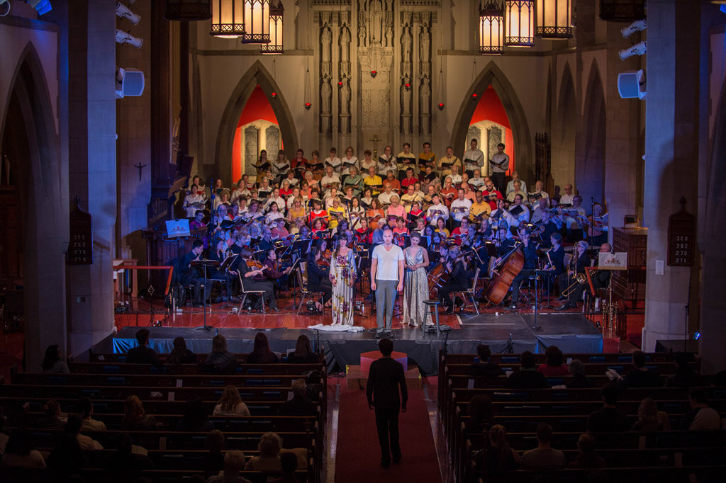 Pax Christi Chorale with orchestra and soloists perform Mendelssohn's iconic Elijah with Stephanie Martin, conductor. (Photo: Dahlia Katz)