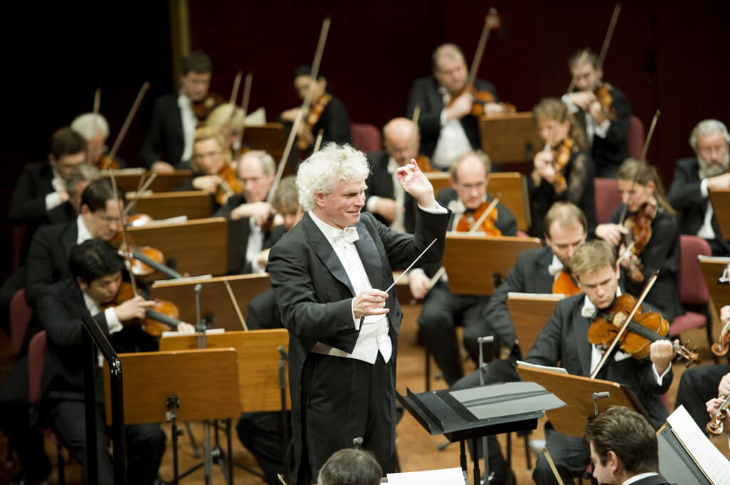 Berlin Philharmonic Orchestra with Sir Simon Rattle (Photo: Monika Rittershaus)