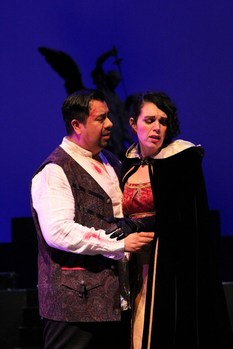 Opera York | Tosca, with soprano Jessica Lane and tenor Romulo Delgado. (Photo: Greg King)