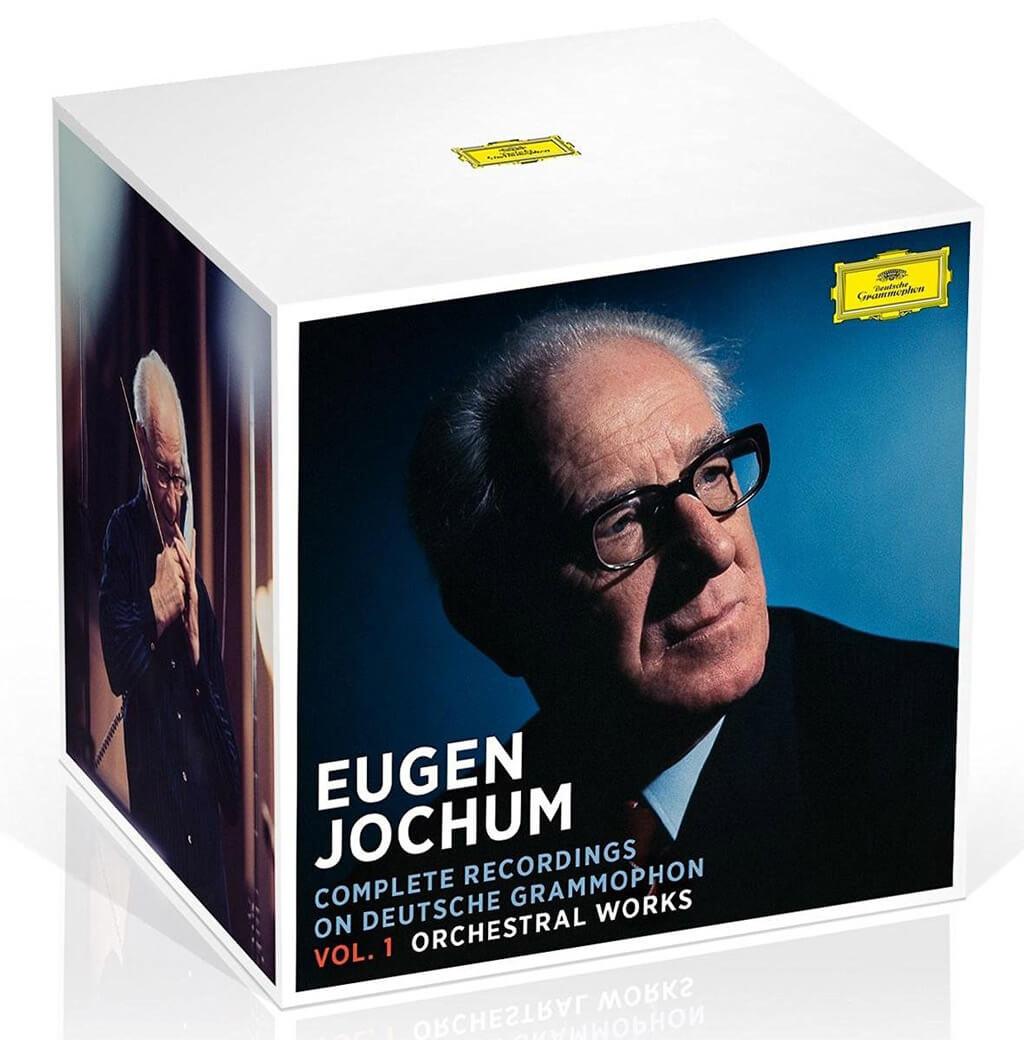 EUGEN JOCHUM: Complete Recordings on Deutsche Grammophon. Vol. 1 Orchestral Works. BEETHOVEN: Symphonies 1-9. Violin Concerto (Schneiderhan). Piano Concertos 1-2 (Pollini). BRAHMS: Symphonies 1-4. Piano Concertos 1-2 (Gilels). Violin Concerto (Milstein). HAYDN: Symphonies 93-104. BRUCKNER: Symphonies 1-9. MOZART: Symphonies 33, 36, 39-41. SCHUBERT: Symphonies 8 & 9. Etc. Berlin Philharmonic & Bavarian Radio Symphony Orchestra/Eugen Jochum cond. DG 479 6314 (42 CDs).