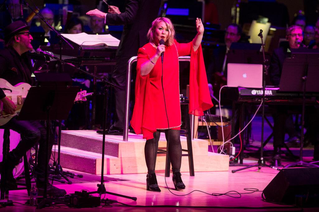 Jann Arden sings with the TSO (Photo: Jag Gundu)