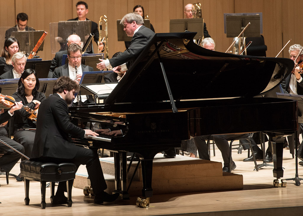 Pianist Lukas Geniušas and guest-conductor John Storgårds with the TSO (Photo: Jag Gundu)