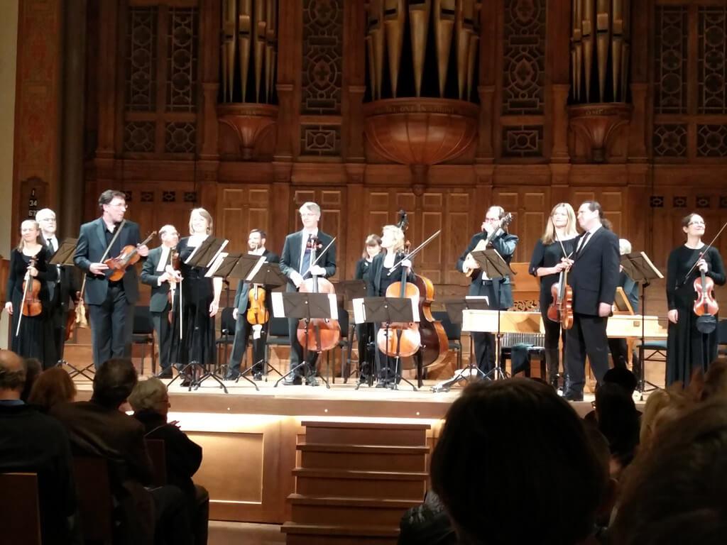 Tafelmusik Orchestra, with violinist Rodolfo Richter. (Photo: John Terauds)