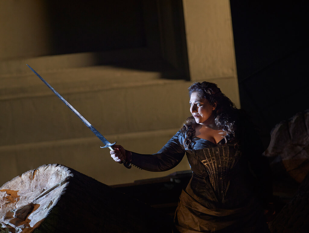 "Christine Goerke in in the Canadian Opera Company's production of Wagner's ""Die Walküre"" in Toronto. (Photo: Michael Cooper)"