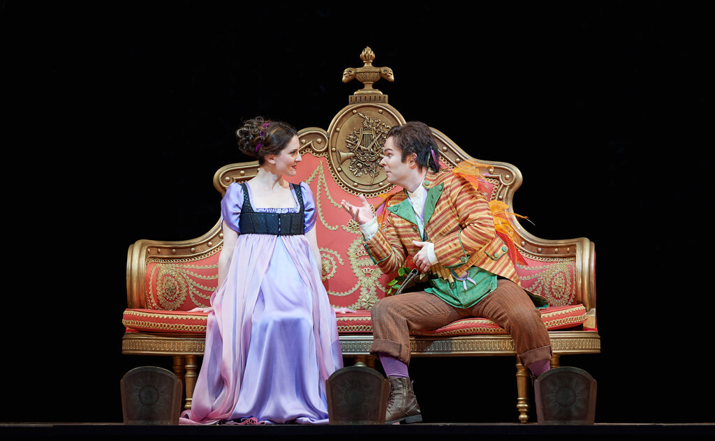 The Magic Flute, Elena Tsallagova (Pamina) and Joshua Hopkins (Papageno), COC. (Photo: Michael Cooper)