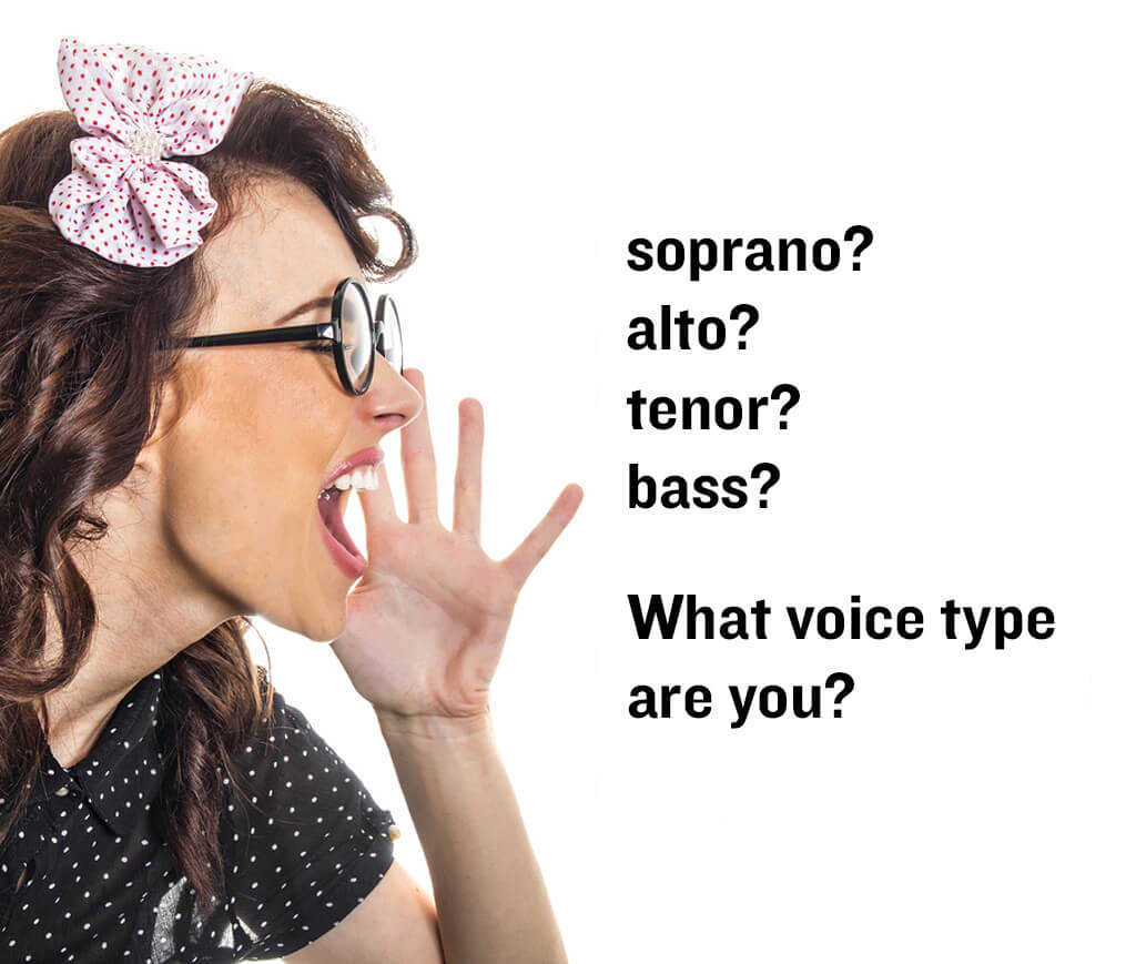 Angelic soprano? Heroic Tenor? Boomy Alto? Earth-shattering Bass? Your voice-type and how to find it.