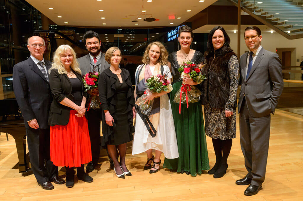Mezzo Emily D'Angelo and soprano Danika Lorèn Share Top Honours at Christina and Louis Quilico Awards (Photo: Chris Hutcheson)