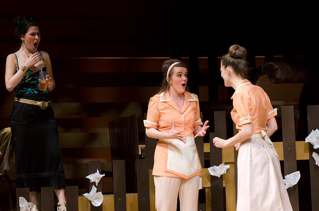 Lynn Isnar as the Marchesa with Jocelyn Fralick as Count Armidoro (Photo: Nicola Betts)