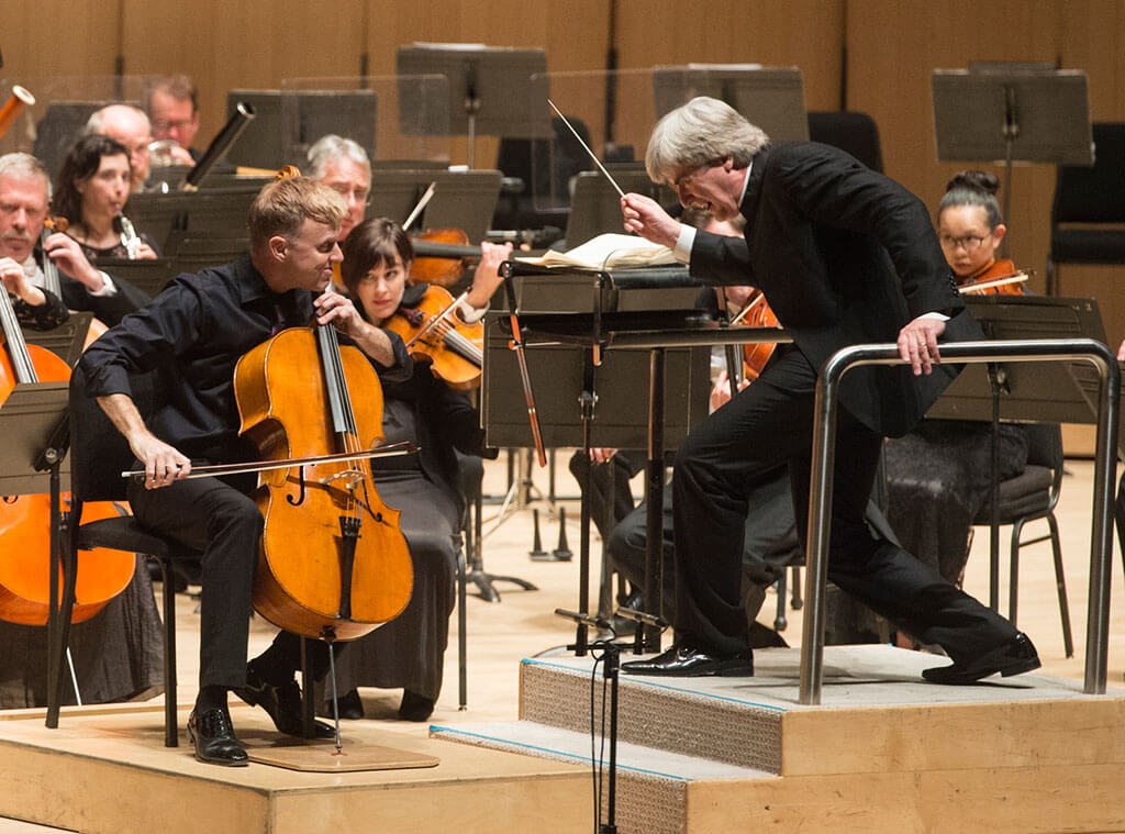 Toronto Symphony Orchestra with Joseph Johnson (cello), Thomas Dausgaard (conductor) (Photo: Jag Gundu)
