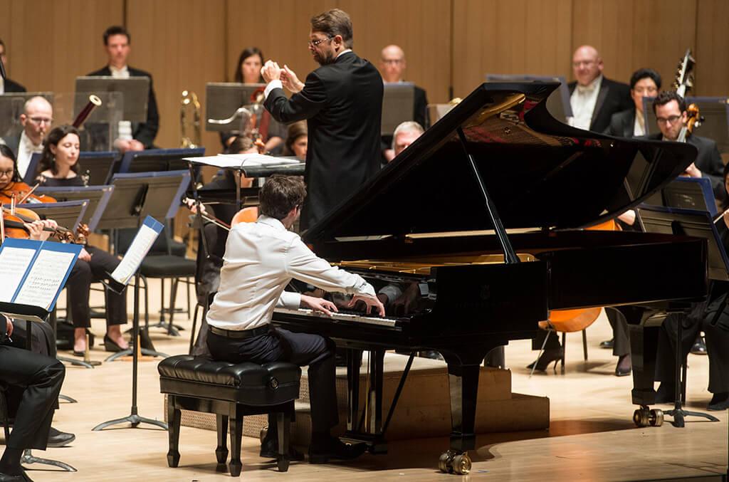 Soloist Lucas Debargue and conductor Andrey Boreyko (Photo: Jag Gundu)