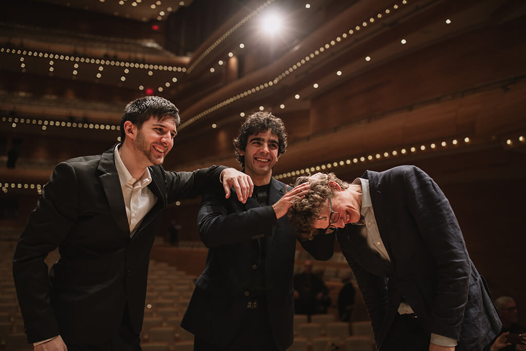 MIMC Laureats Stefano Andreatta, Giuseppe Guarrera and Zoltán Fejérvári (Photo: Brent Calis)