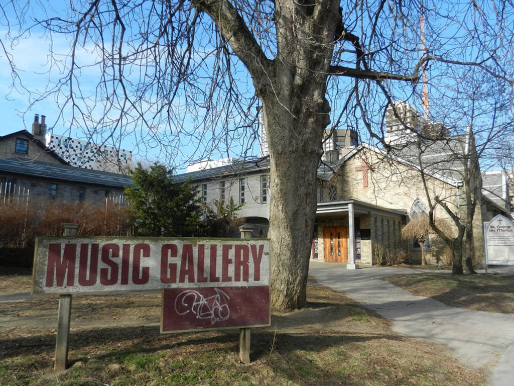 The Music Gallery to be displaced from it's current location within St. George the Martyr, a gothic style church built in 1845. (Photo: The Music Gallery)
