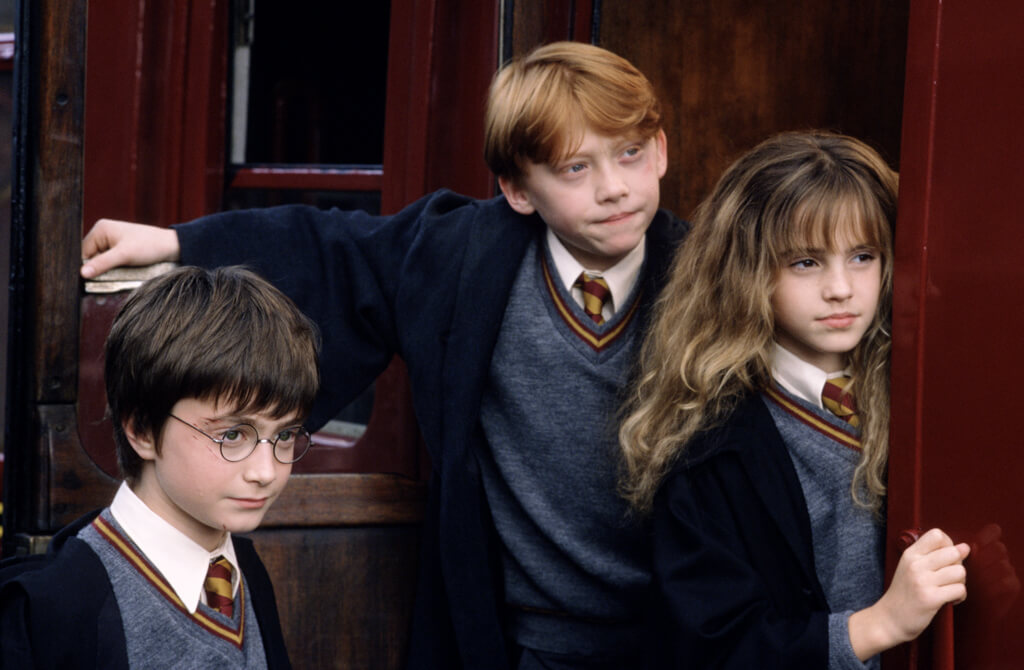 Scene from the Harry Potter and the Philosopher's Stone film. (© & ™ Warner Bros. Entertainment Inc. Harry Potter Publishing Rights © JKR)