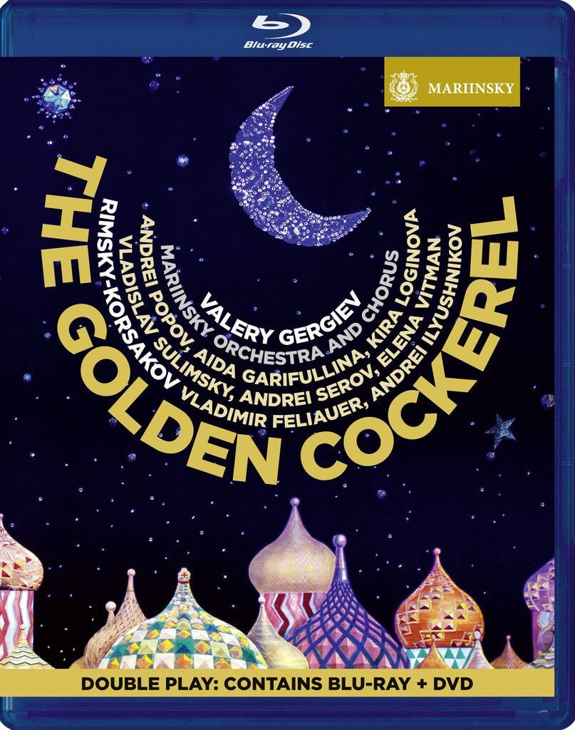 Rimsky-Korsakov: The Golden Cockerel. Vladimir Feliauer (Tsar Dodon), Aida Garifullina (The Queen of Shemakha). Mariinsky Chorus and Orchestra/Valery Gergiev. Stage Director, Costume and Set Designer, and Video Director Anna Matison. Mariinsky Blu-ray & DVD (2 discs) MAR0596. Total Time: 119:00.