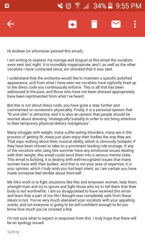 Dunitz's letter to Sheraton Cadwell Group (Photo courtesy Sydney Dunitz)