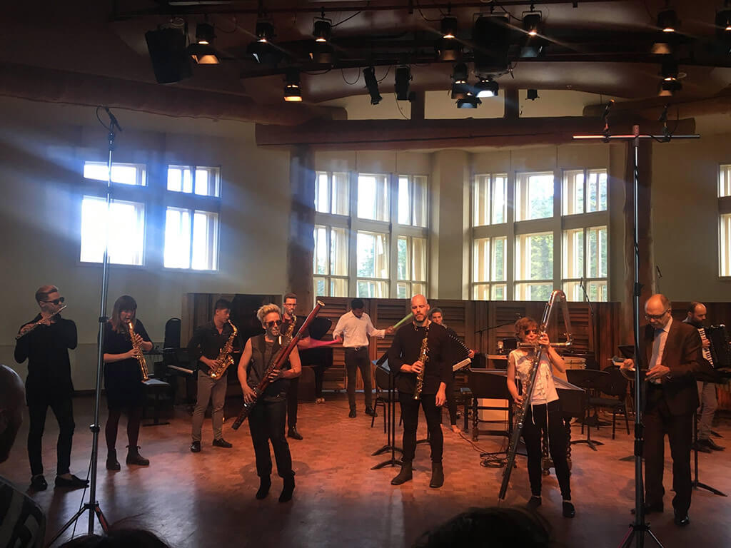 Evolution Ensemble at Banff Centre, June 2017 (Photo: Camila Agosto)