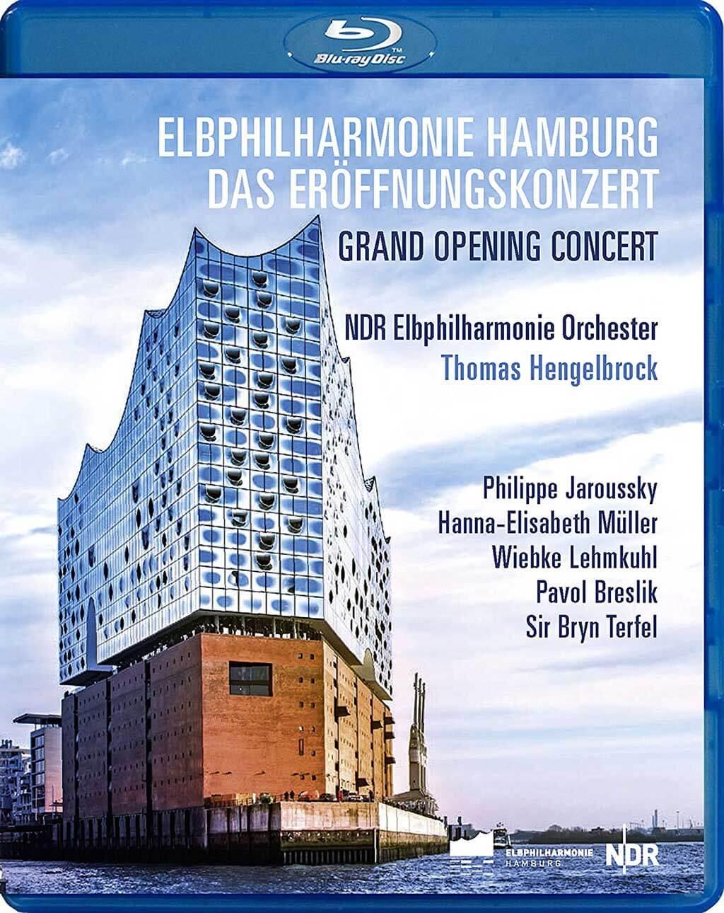 Elbphilharmonie Hamburg Grand Opening Concert. Music by Britten, Dutilleux, Cavalieri, Messiaen, Rihm, Beethoven, etc. Philippe Jaroussky, countertenor; Hanna-Elisabeth Müller, soprano, Wiebke Lehmkuhl, mezzo-soprano; Pavol Breslik, tenor; Bryn Terfel, bass. NDR Chorus & Bavarian Radio Chorus. NDR Elbphilharmonie Orchester/Thomas Hengelbrock. Bonus Documentary: The Elbphilharmonie – Hamburg's New Landmark. C major Blu-ray Disc 741504. Total Time: 165:00.