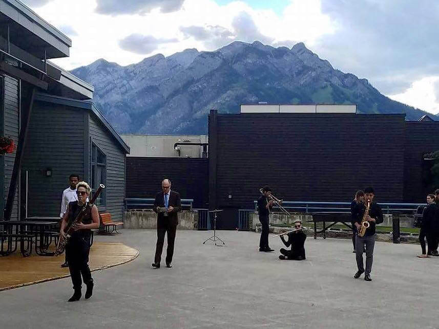 Evolution Ensemble performance at Banff Centre, June 2017 (Photo: Kenneth J. Cox)