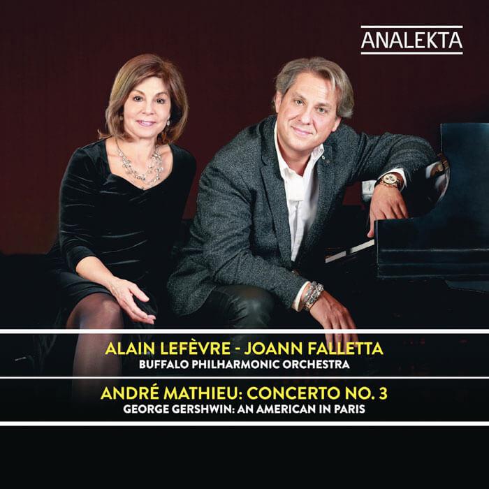 Mathieu: Concerto No. 3 in C minor Op. 25*. Gershwin: An American in Paris. Alain Lefèvre, piano*. Buffalo Philharmonic Orchestra/JoAnn Falletta. Analekta AN2 9299. Total Time: 54:48.