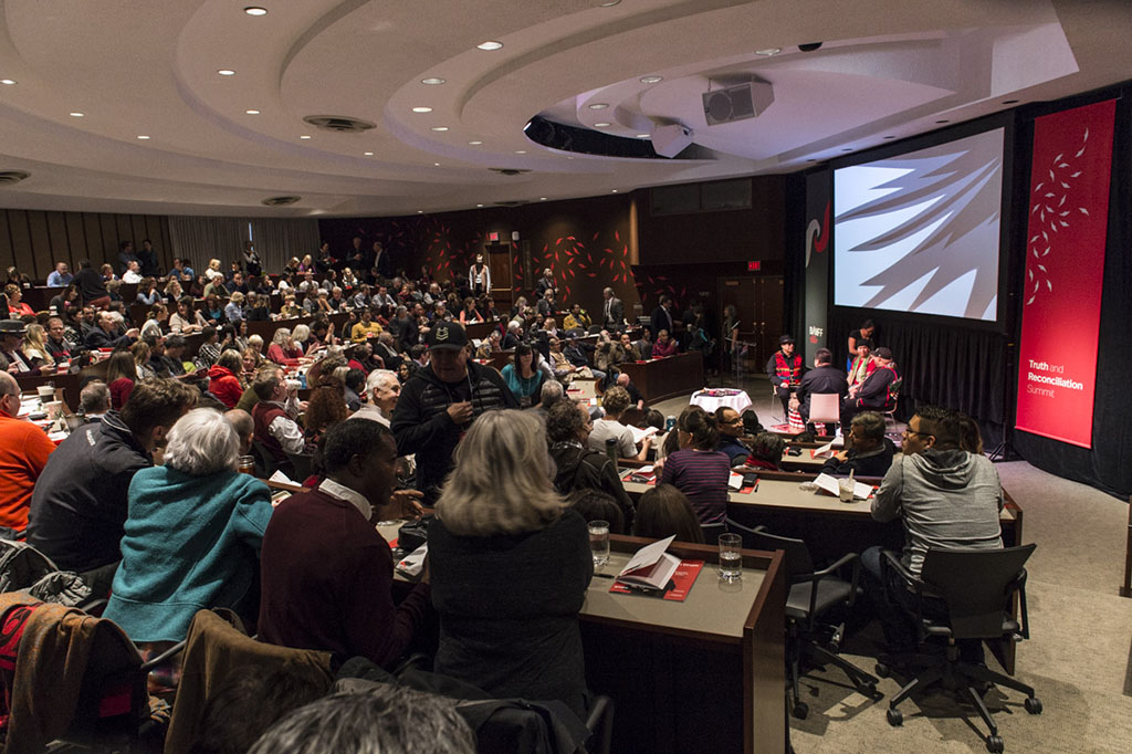 Participants gather at the Truth and Reconciliation Summit hosted by Banff Centre. (Photo: Don Lee)