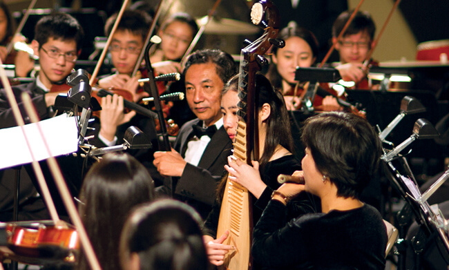 Selected members of the Shen Yun Symphony Orchestra. (Photo courtesy Shen Yun Orchestra)