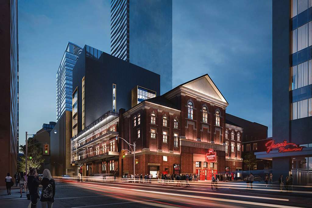 Rendition of the exterior of Massey Hall by KPMB Architects.