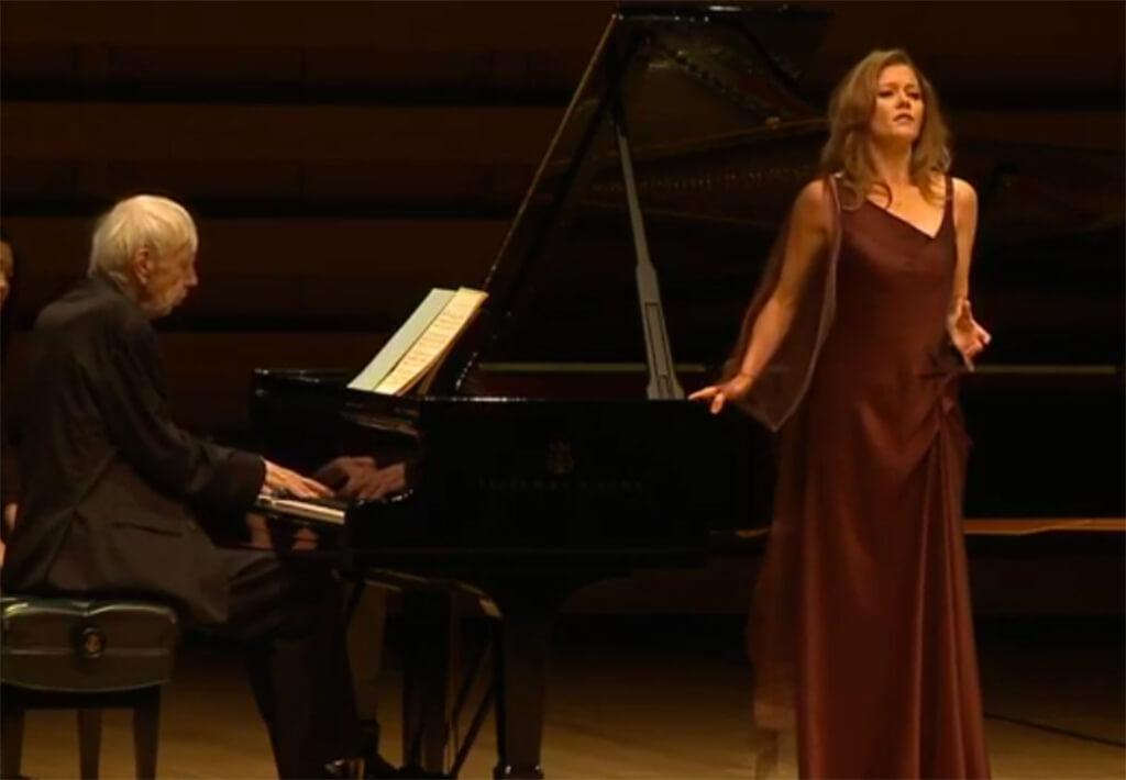 Barbara Hannigan (soprano), Reinbert de Leeuw (piano) at Koerner Hall, Friday.