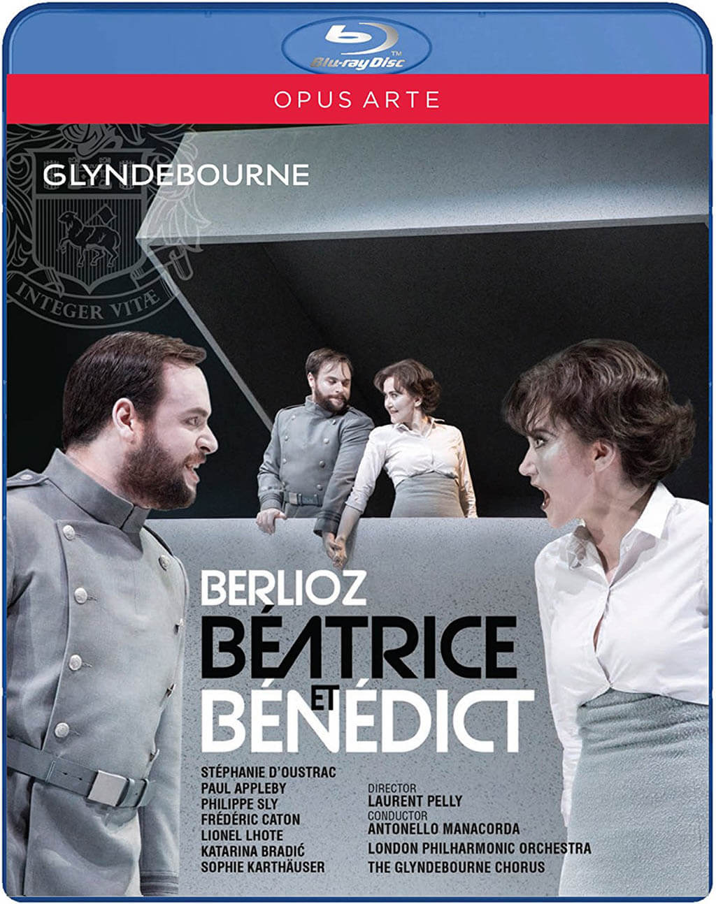 Berlioz: Béatrice et Bénédict. Glyndebourne Festival 2016. Stéphanie d'Oustras (Beatrice); Paul Appleby (Benedict); Sophie Karlhäuser (Hero); Philippe Sly (Claudio). London Philharmonic Orchestra/Antonello Manacorda. Director: Laurent Pelly. Opus Arte Blu-ray Disc OA BD7219 D. Total Time: 118:00.