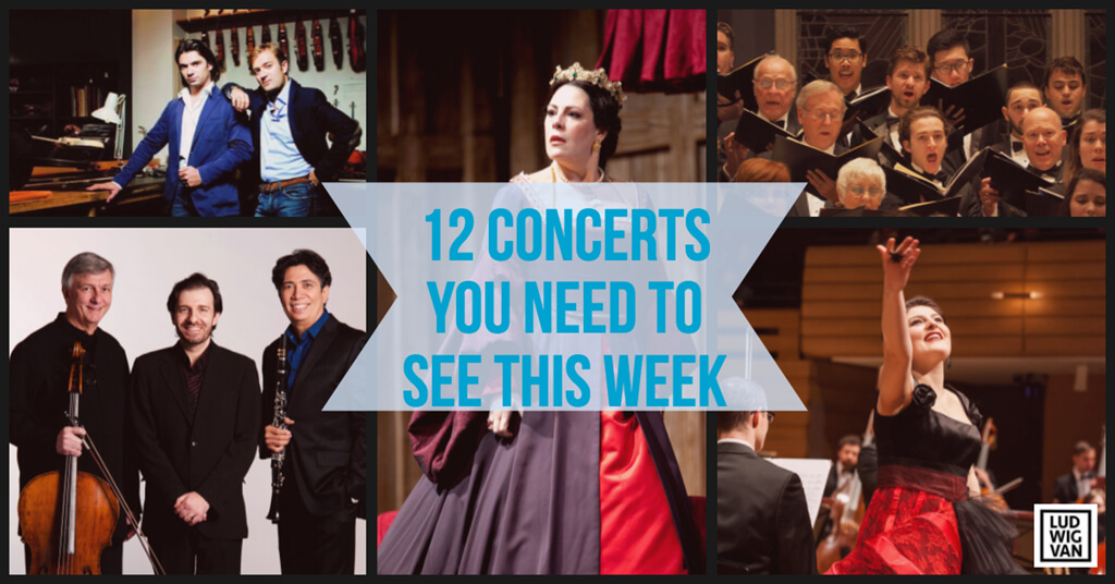 Classical music and opera events happening in and around Toronto for the week of April 23 – 29.
