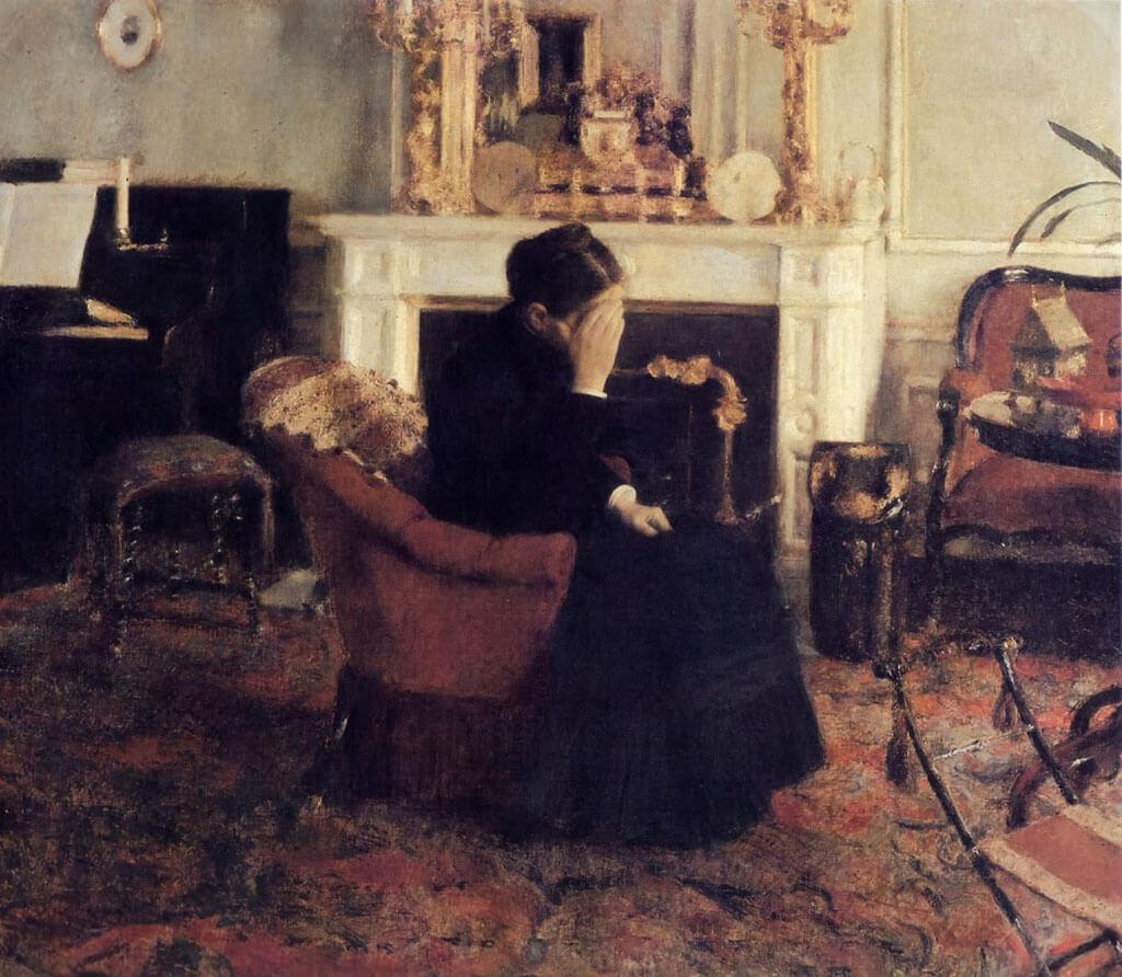 Listening to Schumann (1883) by Fernand Khnopff
