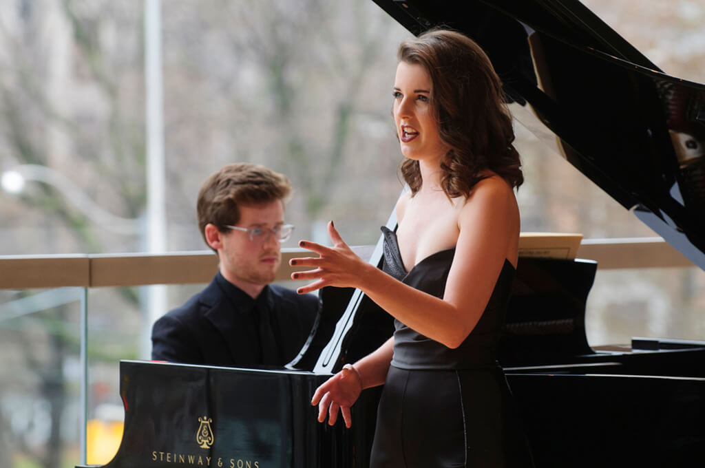 Simone McIntosh, mezzo-soprano; Stéphane Mayer, piano (Photo: Chris Hutcheson)