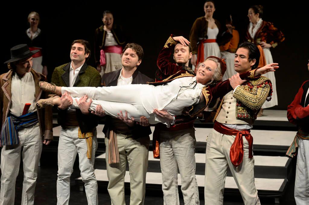 Elizabeth Beeler with cast in Leonard Bernstein's Candide/Toronto Operetta Theatre (Photo: Gary Beechey)