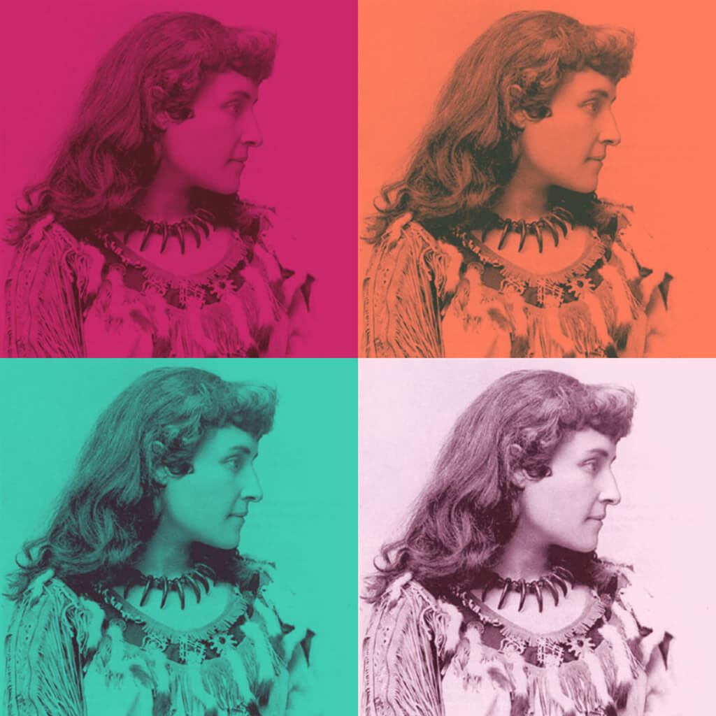 Pauline Johnson was born in the mid 1800s in Ontario to a father who was Mohawk and a mother who was English.