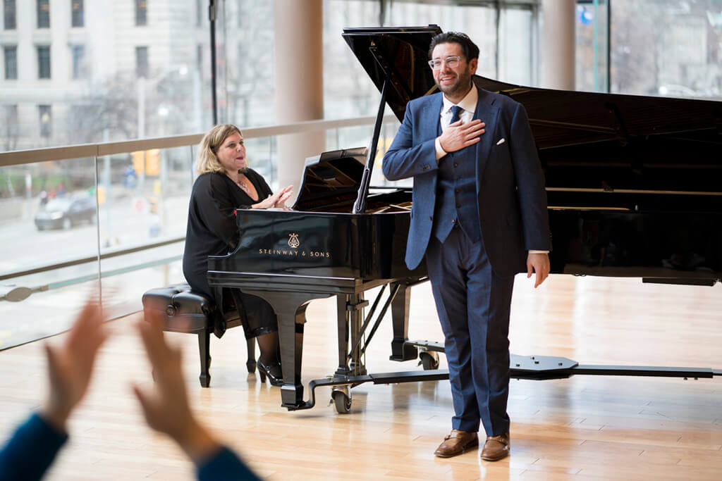 Joshua Guerrero, tenor; Andrea Grant, piano (Photo: Kevin Lloyd)